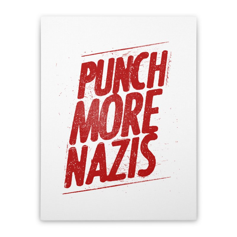 Punch more nazis Home Stretched Canvas by Propaganda Department