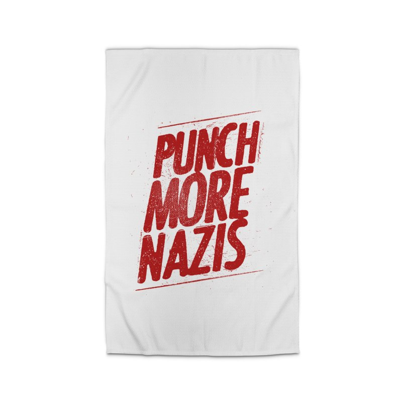 Punch more nazis Home Rug by Propaganda Department