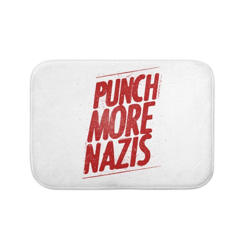 Punch more nazis Home Bath Mat by Propaganda Department
