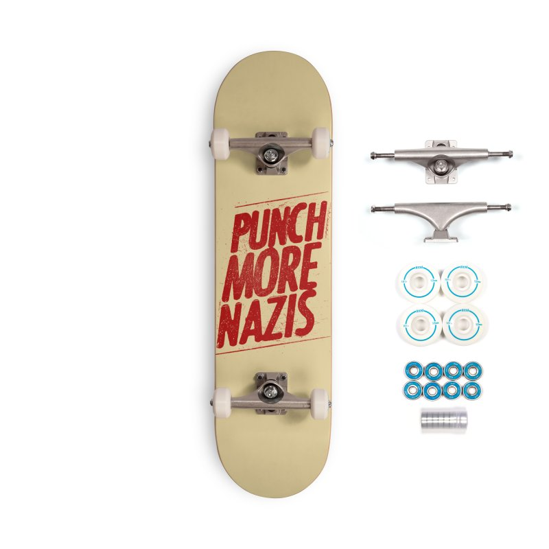 Punch more nazis Accessories Skateboard by Propaganda Department
