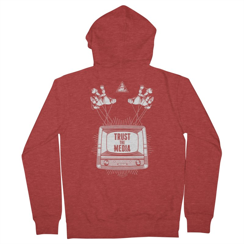 Trust The Media Men's Zip-Up Hoody by Propaganda Department