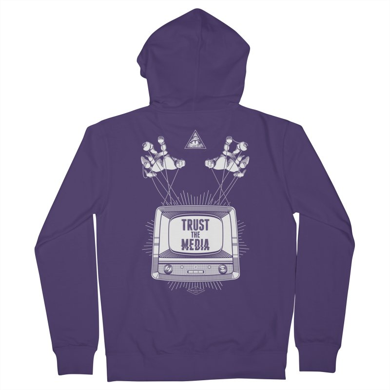 Trust The Media Women's French Terry Zip-Up Hoody by Propaganda Department