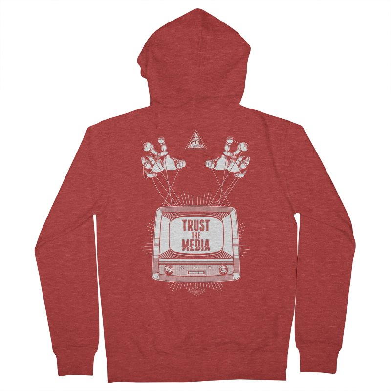 Trust The Media Men's French Terry Zip-Up Hoody by Propaganda Department