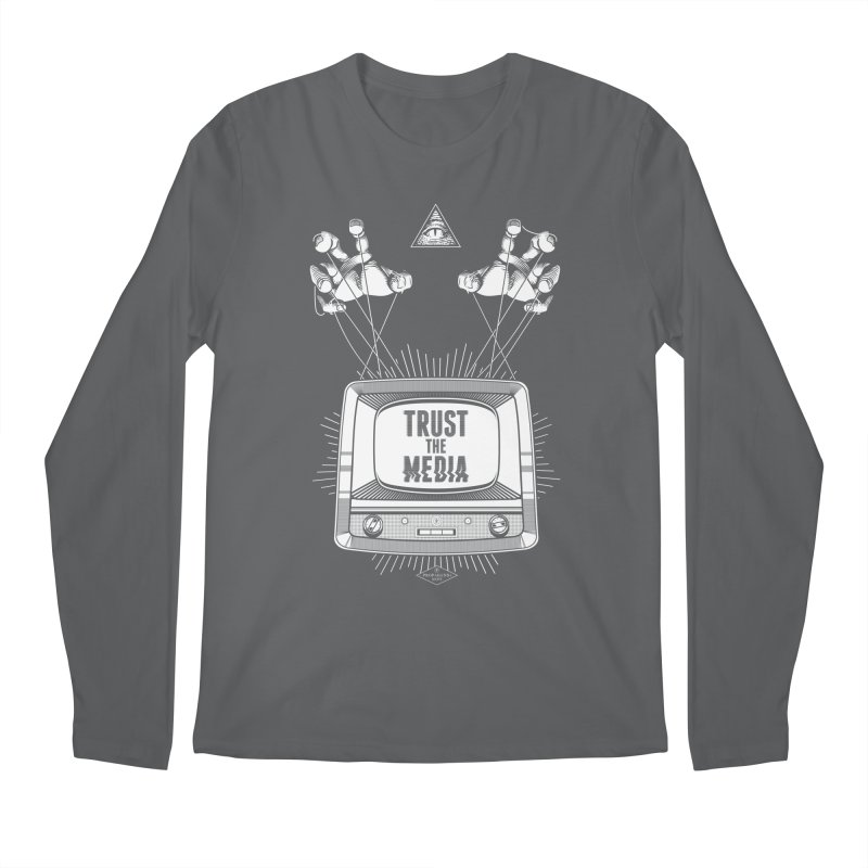 Trust The Media Men's Longsleeve T-Shirt by Propaganda Department