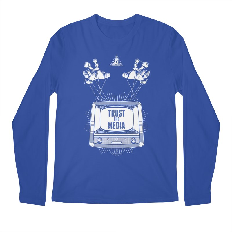 Trust The Media Men's Regular Longsleeve T-Shirt by Propaganda Department