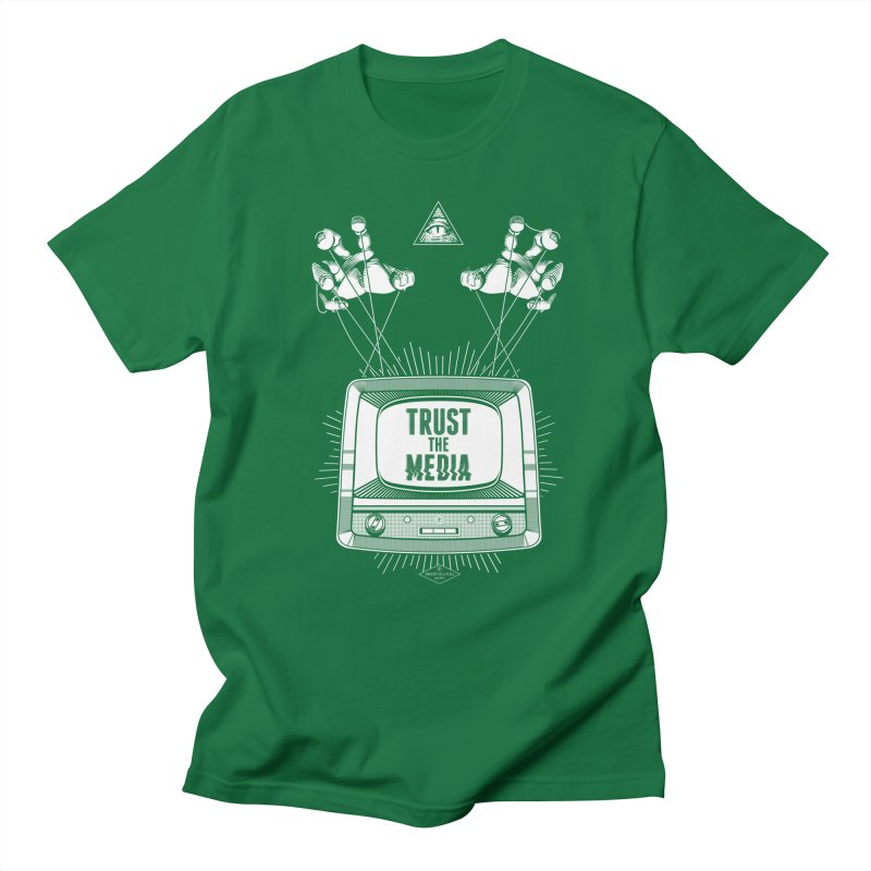 Trust The Media Men's Regular T-Shirt by Propaganda Department