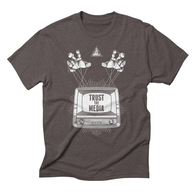 Trust The Media Men's Triblend T-Shirt by Propaganda Department