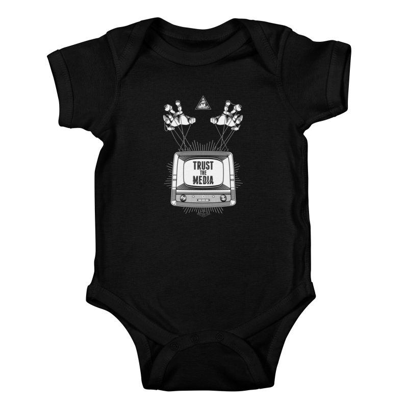 Trust The Media Kids Baby Bodysuit by Propaganda Department