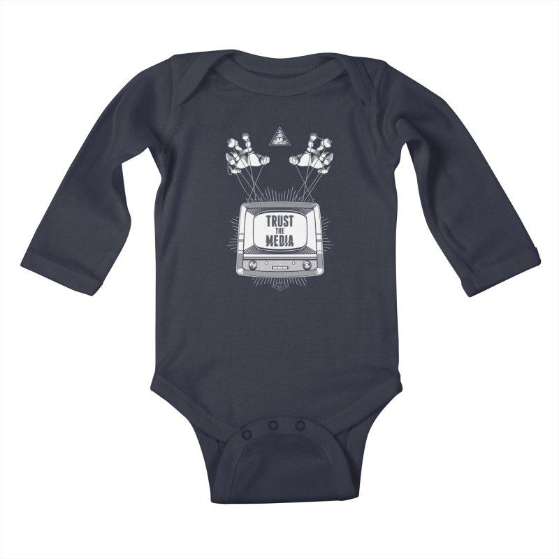 Trust The Media Kids Baby Longsleeve Bodysuit by Propaganda Department