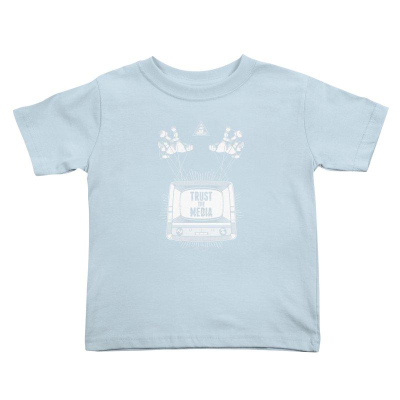 Trust The Media Kids Toddler T-Shirt by Propaganda Department