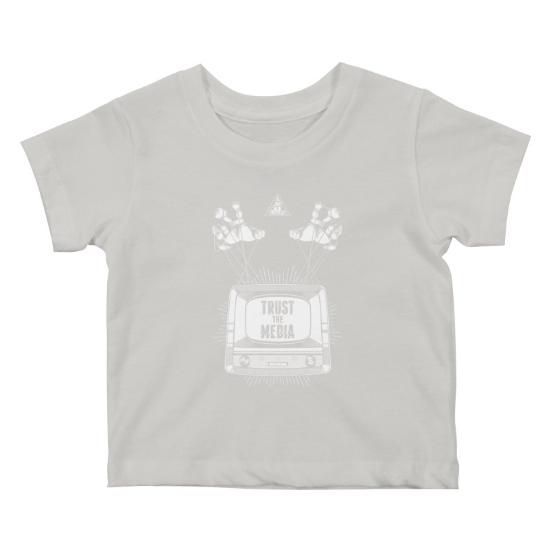 Trust The Media Kids Baby T-Shirt by Propaganda Department