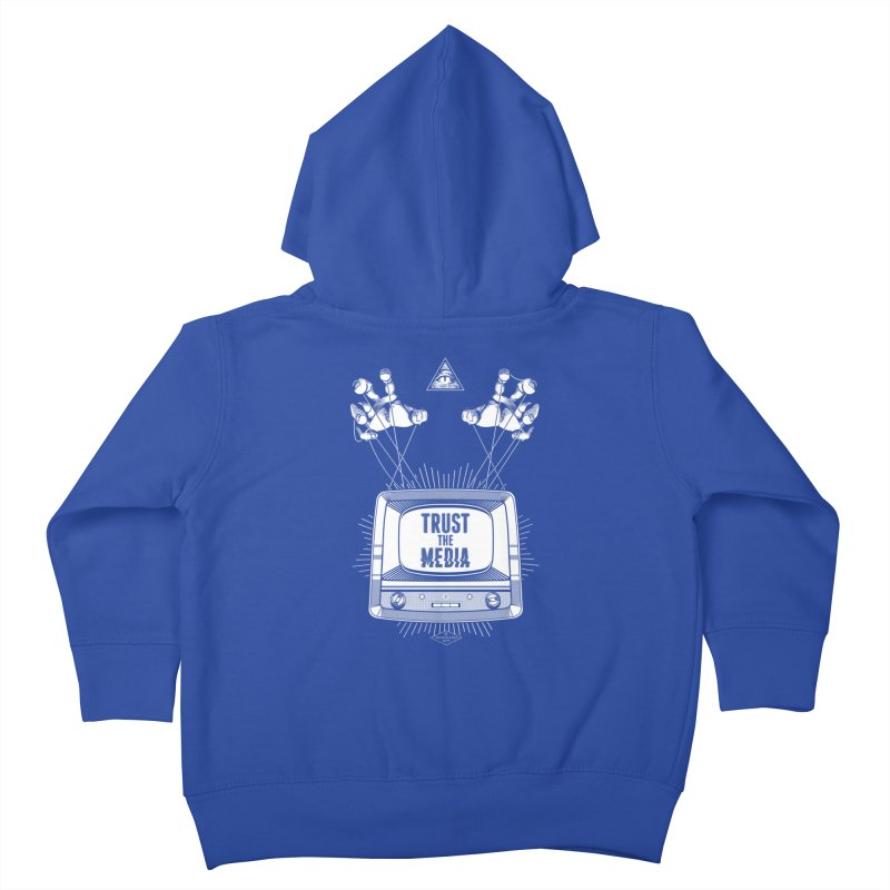 Trust The Media Kids Toddler Zip-Up Hoody by Propaganda Department
