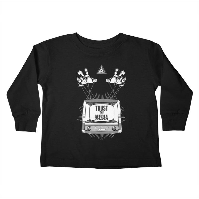 Trust The Media Kids Toddler Longsleeve T-Shirt by Propaganda Department