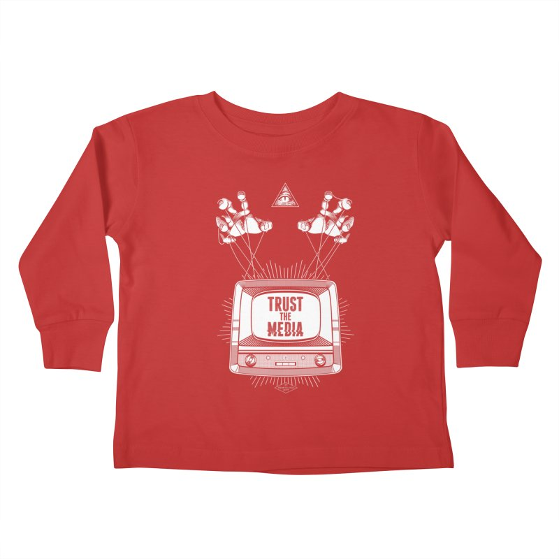Trust The Media Kids Toddler Longsleeve T-Shirt by Propaganda Department