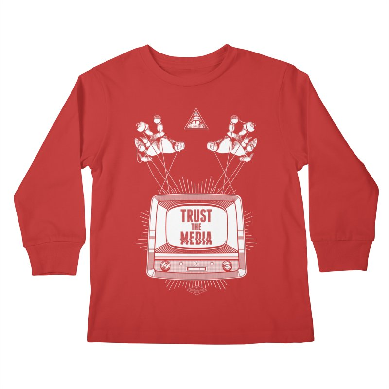 Trust The Media Kids Longsleeve T-Shirt by Propaganda Department