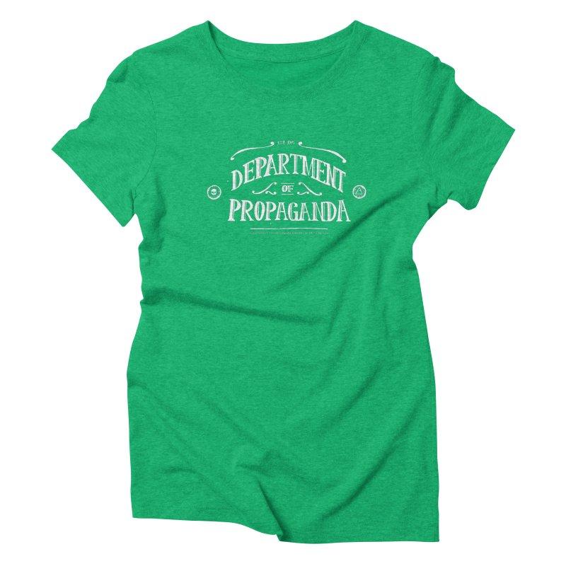Department of Propaganda Women's Triblend T-Shirt by Propaganda Department