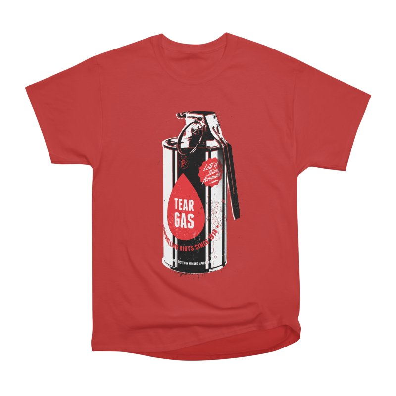 Tear gas grenade Men's Heavyweight T-Shirt by Propaganda Department