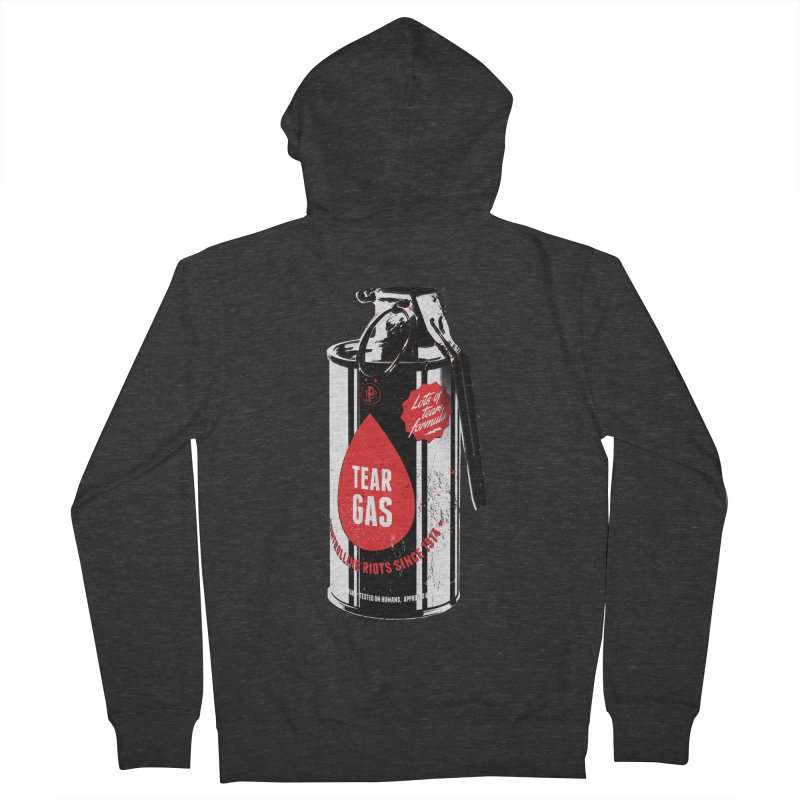 Tear gas grenade Men's French Terry Zip-Up Hoody by Propaganda Department