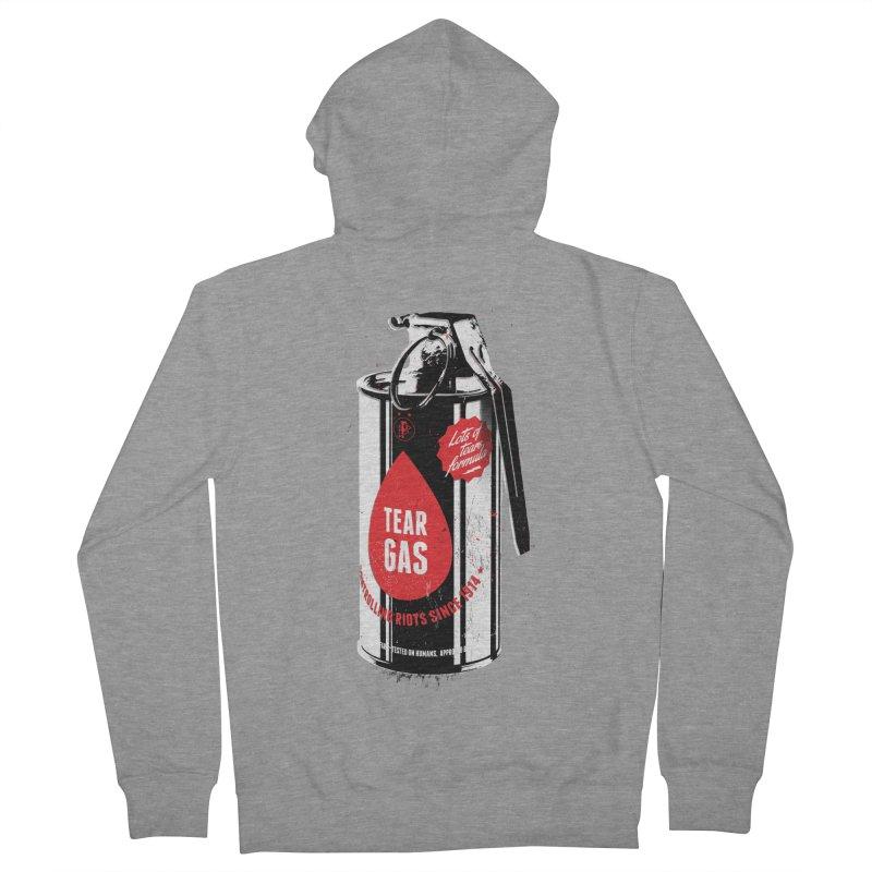 Tear gas grenade Men's French Terry Zip-Up Hoody by Propaganda Department