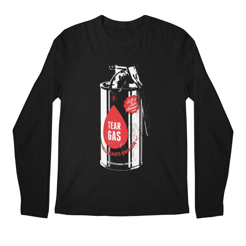 Tear gas grenade Men's Regular Longsleeve T-Shirt by Propaganda Department