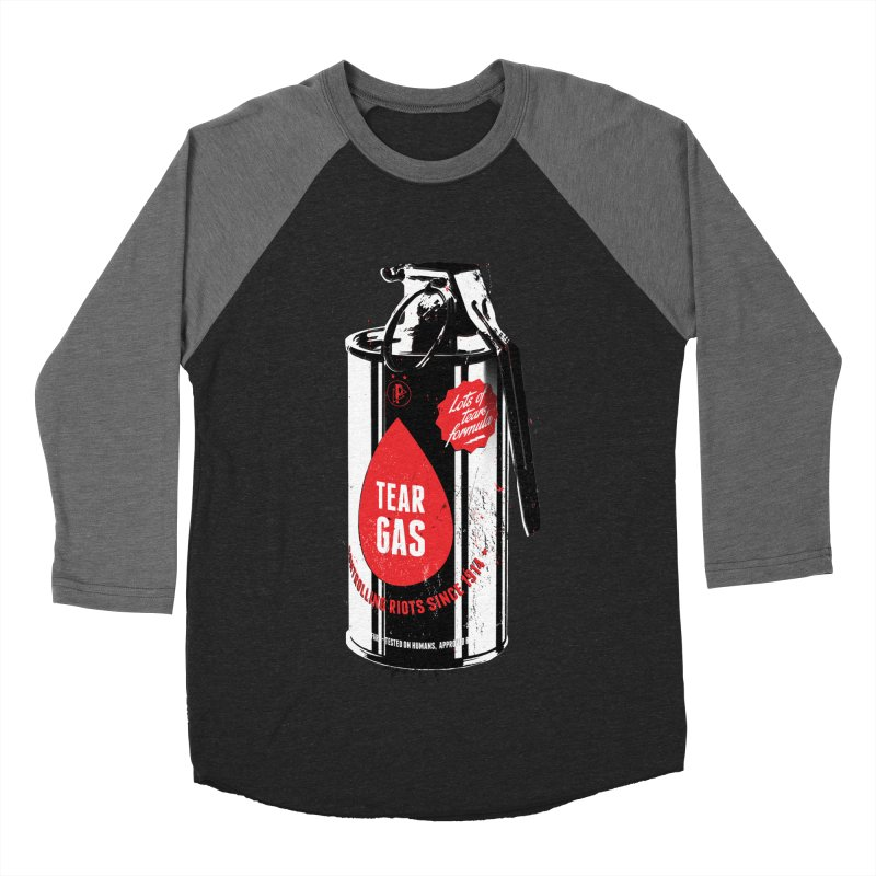 Tear gas grenade Men's Baseball Triblend Longsleeve T-Shirt by Propaganda Department