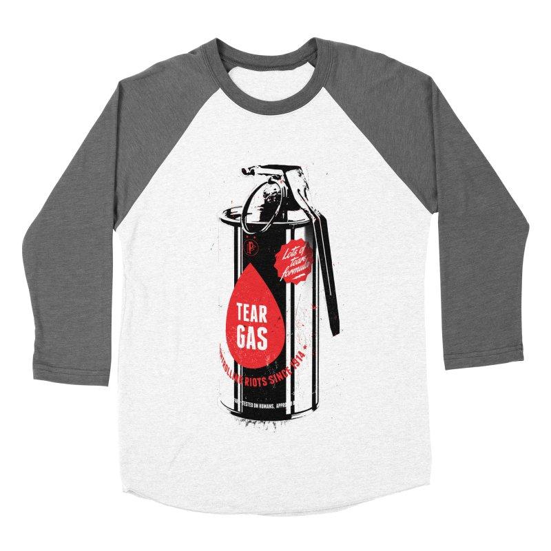 Tear gas grenade Men's Baseball Triblend Longsleeve T-Shirt by Propaganda Department