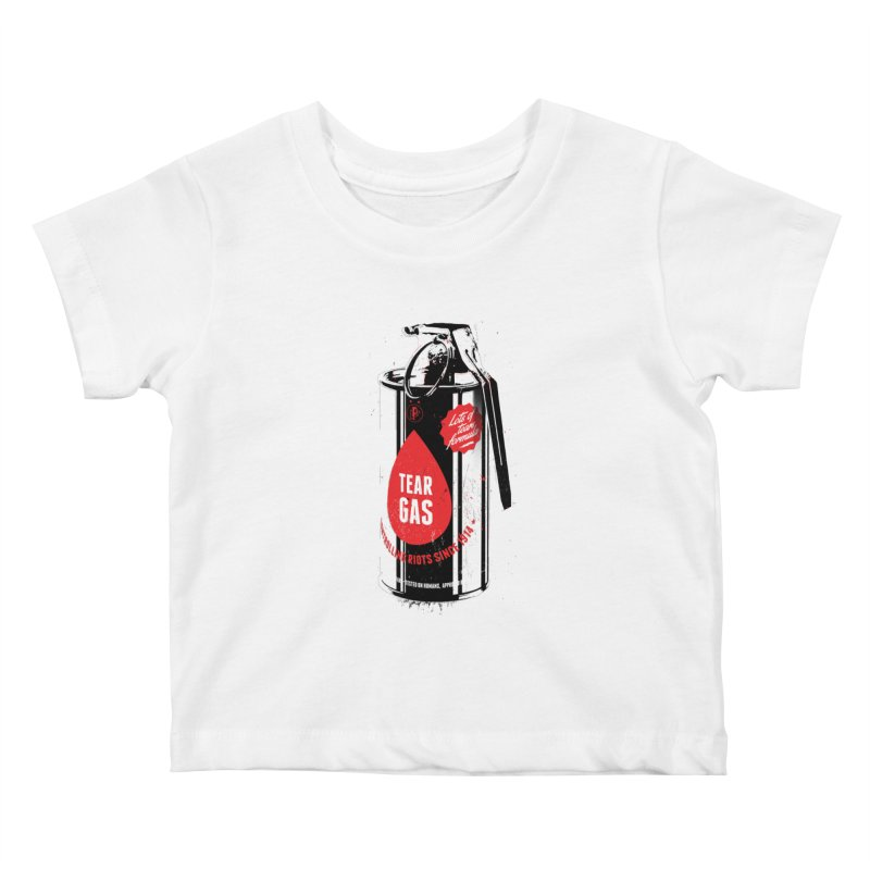 Tear gas grenade Kids Baby T-Shirt by Propaganda Department