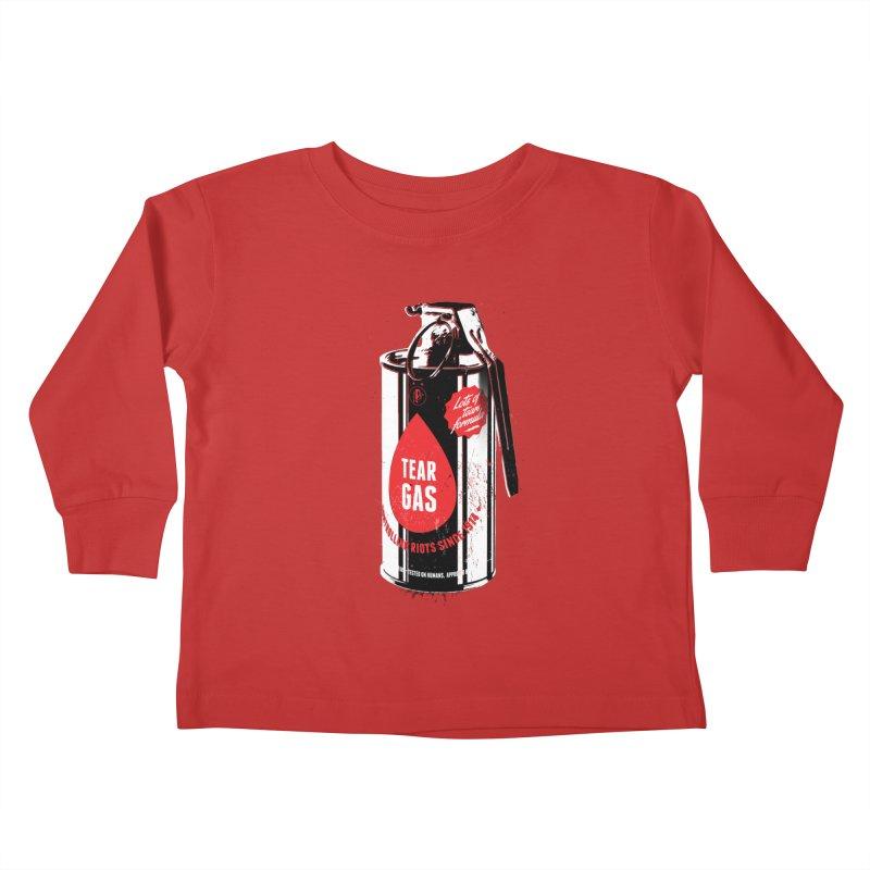 Tear gas grenade Kids Toddler Longsleeve T-Shirt by Propaganda Department