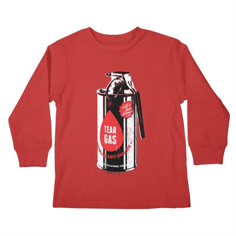 Tear gas grenade Kids Longsleeve T-Shirt by Propaganda Department