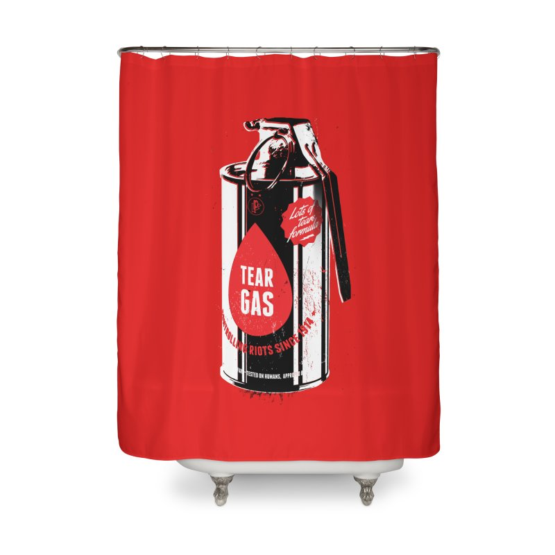 Tear gas grenade Home Shower Curtain by Propaganda Department