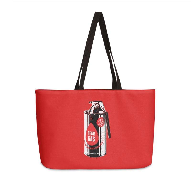 Tear gas grenade Accessories Weekender Bag Bag by Propaganda Department