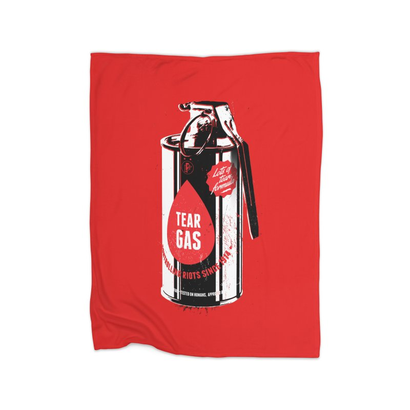 Tear gas grenade Home Fleece Blanket Blanket by Propaganda Department
