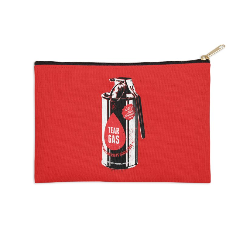 Tear gas grenade Accessories Zip Pouch by Propaganda Department