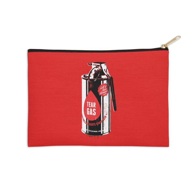 Tear gas grenade Accessories Zip Pouch by Propaganda Department