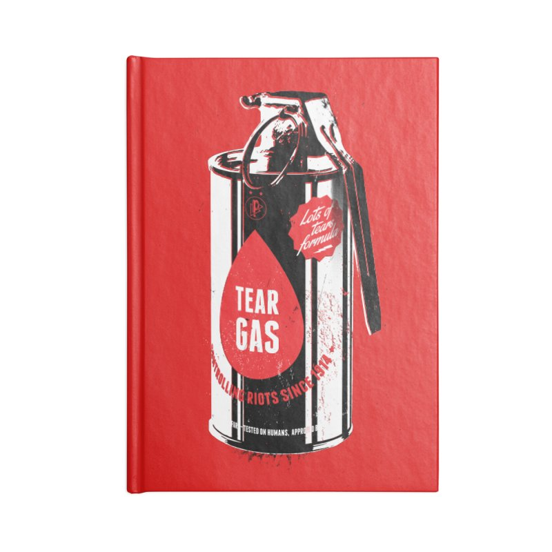 Tear gas grenade Accessories Lined Journal Notebook by Propaganda Department