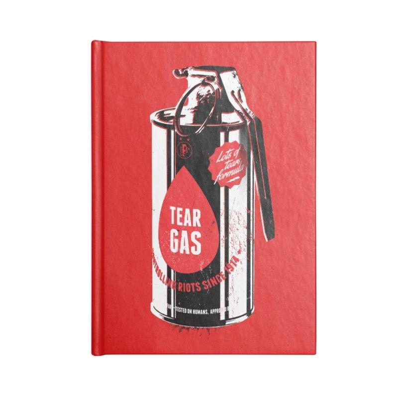 Tear gas grenade Accessories Blank Journal Notebook by Propaganda Department