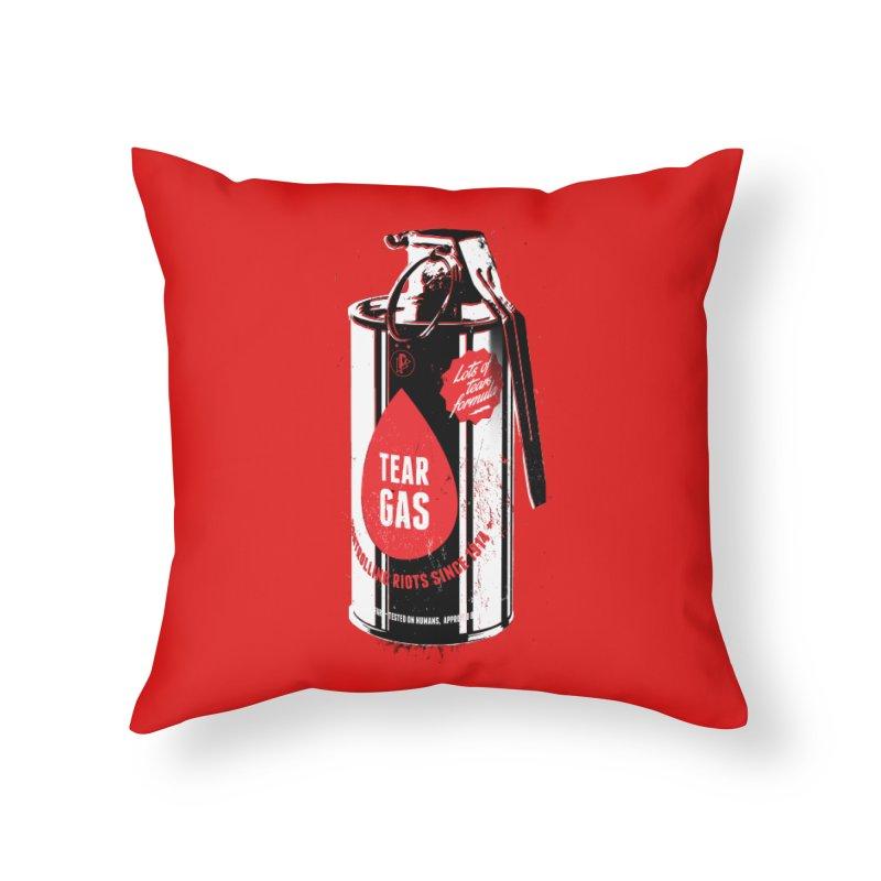 Tear gas grenade Home Throw Pillow by Propaganda Department