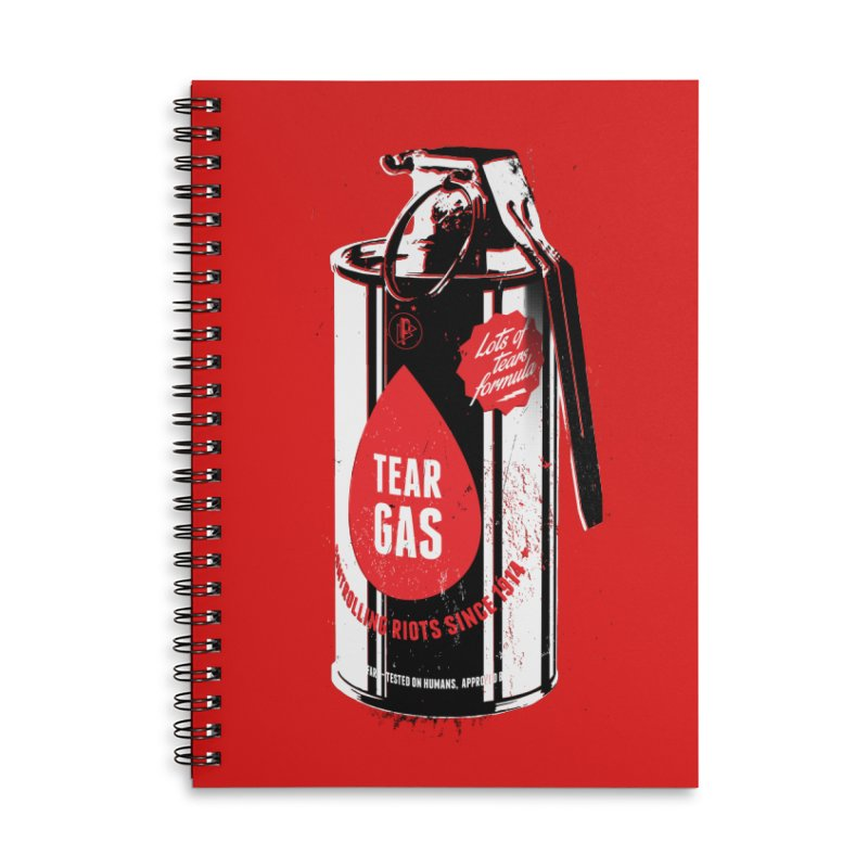 Tear gas grenade Accessories Lined Spiral Notebook by Propaganda Department