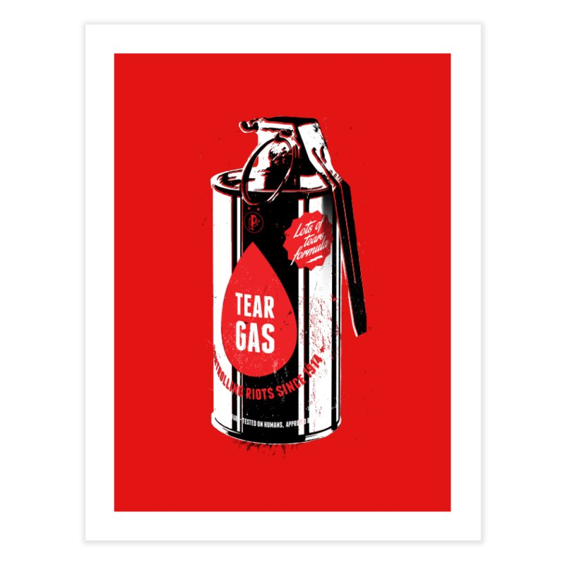Tear gas grenade Home Fine Art Print by Propaganda Department