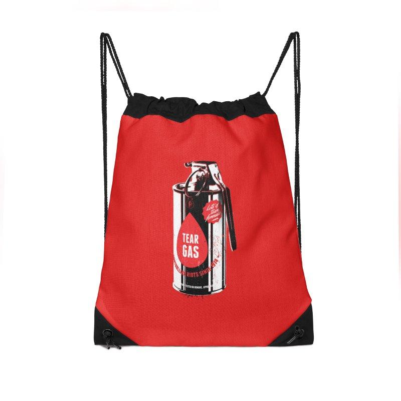 Tear gas grenade Accessories Drawstring Bag Bag by Propaganda Department