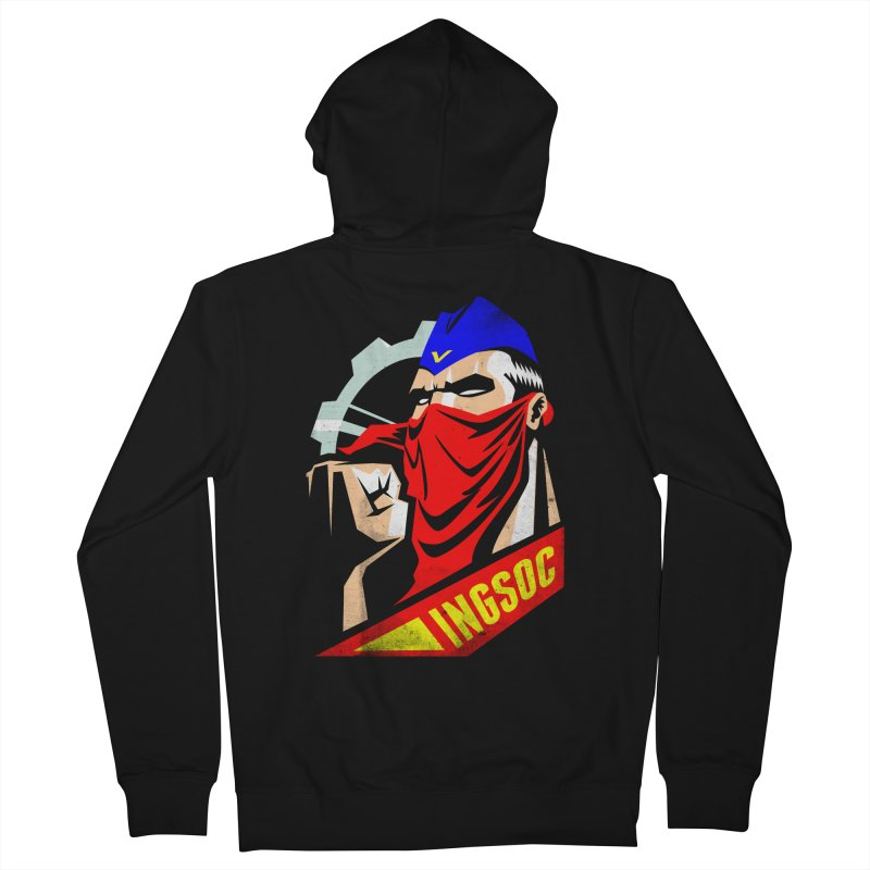 INGSOC Men's French Terry Zip-Up Hoody by Propaganda Department