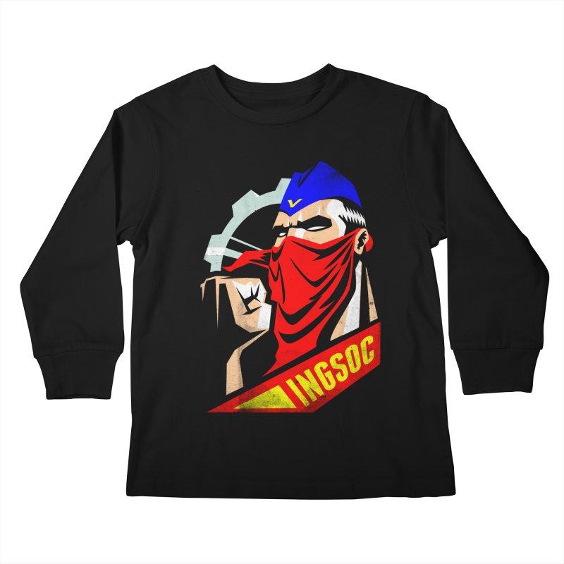 INGSOC Kids Longsleeve T-Shirt by Propaganda Department