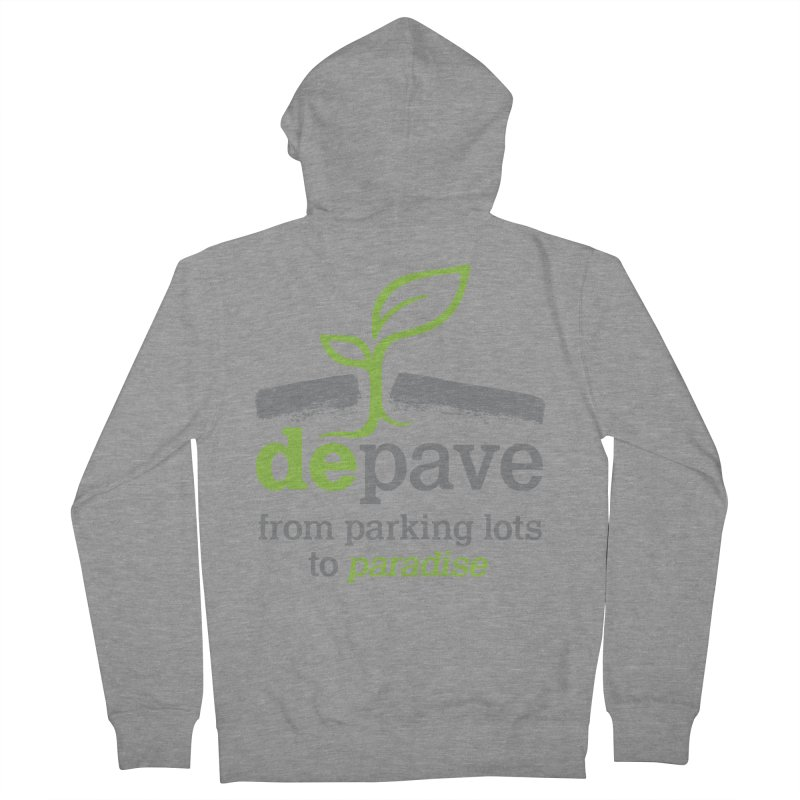 Depave - From Parking Lots to Paradise Men's Zip-Up Hoody by Depave's Shop