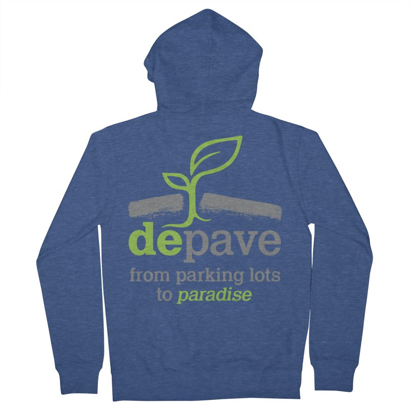 Depave - From Parking Lots to Paradise Women's French Terry Zip-Up Hoody by Depave's Shop