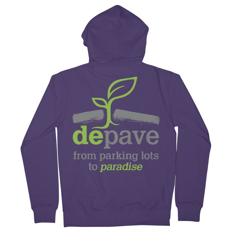 Depave - From Parking Lots to Paradise Women's Zip-Up Hoody by Depave's Shop