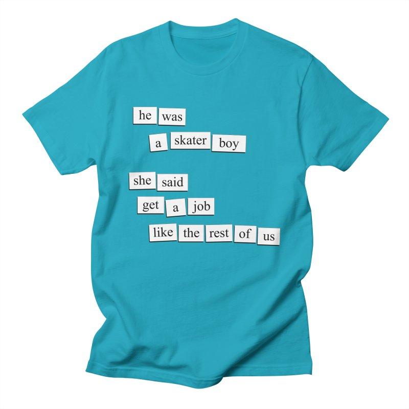 Skater Boy Men's T-Shirt by depressing fridge poems's Artist Shop