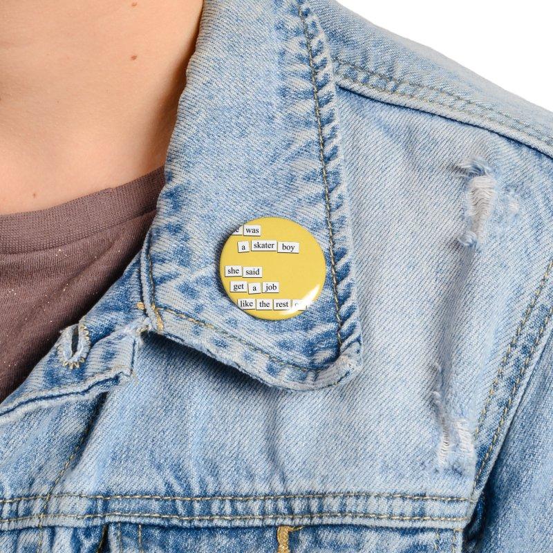Skater Boy Accessories Button by depressing fridge poems's Artist Shop