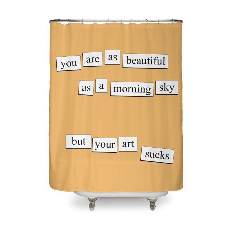 A Morning Sky Home Shower Curtain by depressing fridge poems's Artist Shop