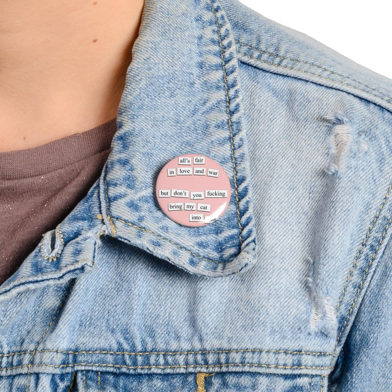 Love And War Accessories Button by depressing fridge poems's Artist Shop