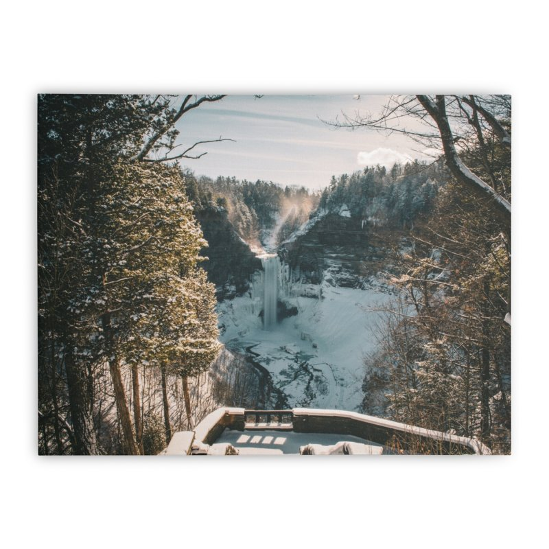 Taughannock - Fresh Snowfall in Stretched Canvas by Derek Palmer Photo Shop